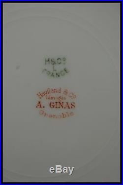 C. 1900 HAVILAND & CO LIMOGES PORCELAIN PART of SERVICE 53 pieces GOLD & FLOWERS