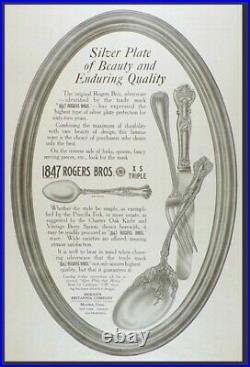 Charter Oak 7-piece hostess set by 1847 Rogers Brothers silverware (No Mono)