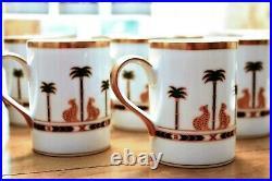 Christian Dior Casablanca, Fine China 24K Gold Trim Partial Set, Bowl, Mug Cups