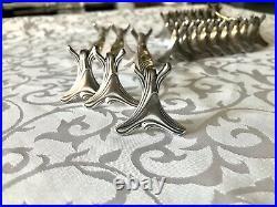 Christofle Art Nouveau Antique Silver Plated Knife Rest Set Of 12 Pcs