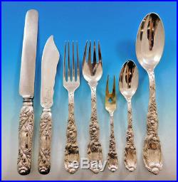 Chrysanthemum by Tiffany & Co. Sterling Silver Flatware Set Service 115 pieces