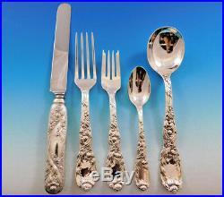 Chrysanthemum by Tiffany Sterling Silver Flatware Set 12 Service 64 pcs Dinner