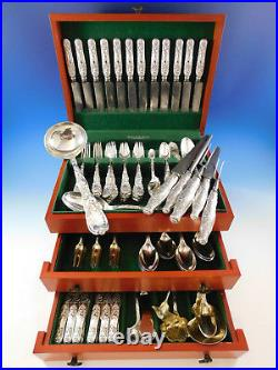 Chrysanthemum by Tiffany and Co Sterling Silver Flatware Set Service 114 pieces