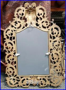 Circa 1890 Set of 3 P. E. Guerin Gilt Brass Bacchus Mirrors Made in New York