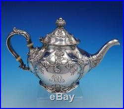 Cromwell by Gorham Sterling Silver Tea Set 3pc Art Nouveau with Flowers (#3279)