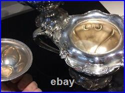 Derby Silver Co Quadruple Silver Plate 5 Piece Tea Coffee Set
