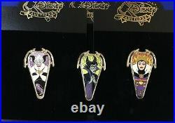 Disney Auctions Art Nouveau Villains Maleficent Evil Queen Ursula LE1000 Pin Set