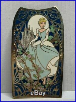 Disney Auctions Jumbo Art Nouveau Pin Set-Ariel, Aurora, Belle, Cinderella LE100