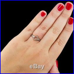 Engagement Ring Setting Art Nouveau Filigree Round Cushion Solitaire 14k W Gold