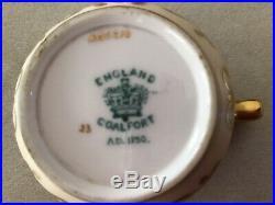 Exceptional And Rare Coalport Miniature/demitasse Set