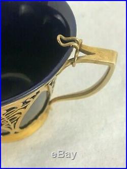 Exceptional Art Nouveau Demitasse Coffee Set. English Sterling Robert & Belk Ltd