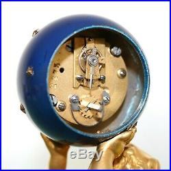 FRENCH Mantel Clock ANTIQUE SET! AUTHENTIC GILDED! Art Nouveau Candelabras GOLD