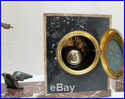 French Clock Set Marble Art Deco Art Nouveau 1920