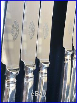 GRECIAN Pattern 8 Place Silver Plate Cutlery Set, John Turton Sheffield EPNS A1