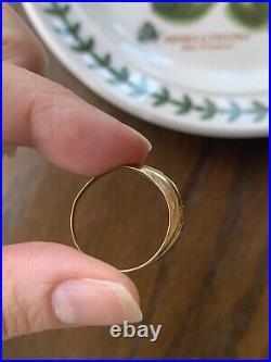 GYPSY Set Art Nouveau 3 Stone 8k Gold Ring Stacker Antique Stars Sapphire Ruby
