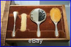 George Betjemann & Sons Metamorphic Dressing Table Sterling Silver Gold Gilt Set