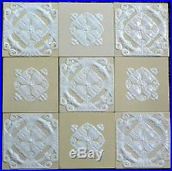 Germany Villeroy & Boch Antique Art Nouveau Majolica 9-set Tile C1900