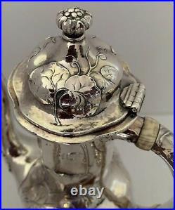 Gorham Martele Sterling I/bb Figural Woman Lily Pads 3pc Coffee Set R. Bain