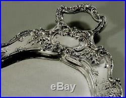 Gorham Sterling Tea Set Tray 1907 Hand Decorated