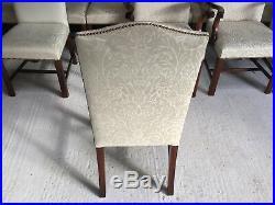 Harrods Ultra Opulent set 14 Hepplewhite style Chairs Pro French polished