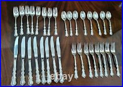 Intl Sterling Silver Flatware Angelique settings for 8 total 32 Pieces withchest