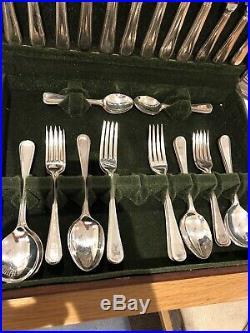 James Ryals Canteen Of BEAD DESIGN Cutlery EPNS A1 Silver Plate 42 Piece Set