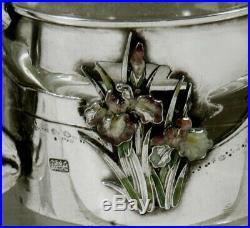 Japanese Sterling & Enamel Tea Set c1890 Signed