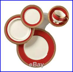 Lenox Embassy 5-piece Elegant Place Setting, Red, Gold & Cream Bone China USA
