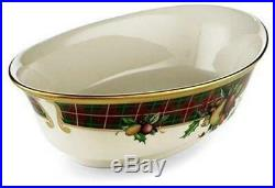 Lenox Holiday Tartan Christmas China 63pc Place Setting Set for 12 New