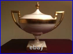 Lenox for Tiffany & Co. Antique Art Nouveau Ivory Coffee Pot Sugar & Creamer Set