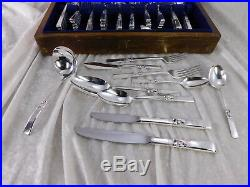MORNING STAR Oneida Community silverplate flatware box set 88 pcs 1948 Floral