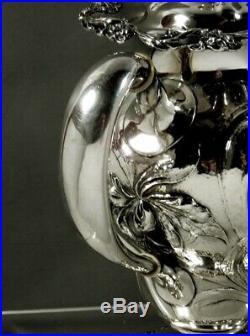Mauser Sterling Tea Set c1895 Art Nouveau Hammered