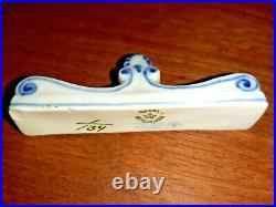 OLD Pre-1923 set of 3 KNIFE REST BLUE FLUTED PLAIN # 1-134 Royal Copenhagen