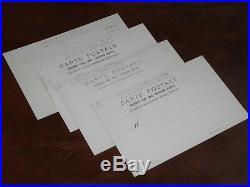 Original Set Of Four Mucha Signed Art Nouveau Glamour Advertising Postcards Moet
