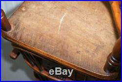 Pair Of Early 19th Century Burr Yew Wood & Elm Windsor Armchairs Part Set Of 4