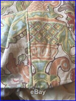 Pottery Barn Simone King Duvet Bedding Set Linen Blend Earth Tones 2 Euro Shams