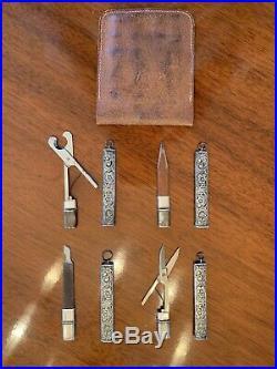 Rare Art Nouveau Sterling Silver 4 Piece Chatelaine Set Webster