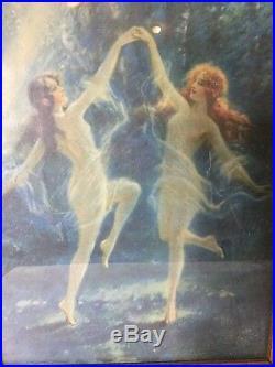 Rare Original Set Of Art Nouveau Prints In Original Frames