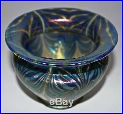 Rare Set Of Four Antique Art Nouveau Loetz Phenomenon Glass Lamp/light Shades