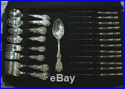 Reed & Barton Francis I 64pcs Silverware 5-Pc Lunch Size Setting Service for 12