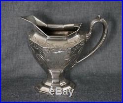 Reed & Barton SILVERPLATE Art Nouveau COFFEE & TEA SET 5 Pieces No. 3693