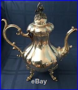 Reed & Barton Silverplate WINTHROP (#1795) 5 PC Coffee/Tea Set Art Nouveau Style