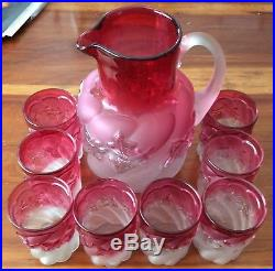 Royal Ivy Lemonaid Set From Northwood, Eight Glasses In Good Condition