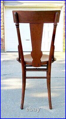SET 6 Vtg Antique Art Nouveau Bentwood Pressed Back Cafe Bistro Dining Chairs