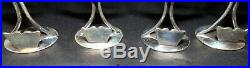 Set Of 6 Sterling Silver 935 James Salter Intaglio Dancers Place Card Holders