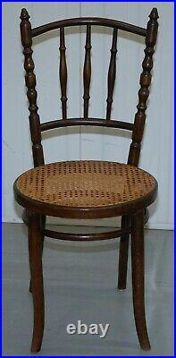 Set Of Four Original Circa 1880 Victorian Thonet Fiscel Dining Chairs Rattan