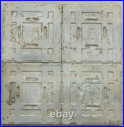 Set of 4 Tiles Rare art nouveau majolica vintage England Antique H & R Jhonson