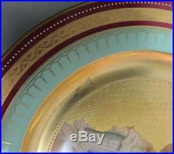 Set of 6 Antique ROYAL VIENNA ART NOUVEAU Hand-Painted Cabinet Plates c. 1890