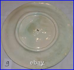 Set of 6 French Majolica Luneville Asparagus plates