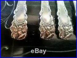 Set of 6 Raphael by Alvin Sterling Silver Cocktail Forks Art Nouveau Lily Maiden